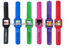 fashion digital silicone slap MP4 watch, cheap MP4 watch