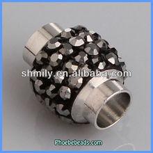 Wholesale Gray Rhinestone Fashion Magnetic Clasps Jewelry Findings PMC-M024B