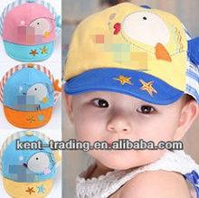 lovely breathable kids hat child 3D embroidery cap kids sunbonnet cap