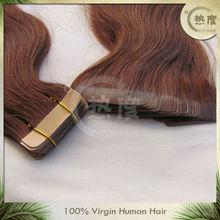 "Hothair hair 8""-32""human hair extension Pu skin weft tape hair extensions"
