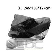 New XL Waterproof Motorcycle Motorbike bike UV protective outdoor Cover black