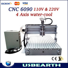 CNC 6090 engraving machine carving router with 1.5KW water cooled spindle for large and hard material work