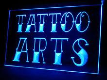 100028B Tattoo Monster Angel Wing Death Skull Pirates Stapling LED Light Sign
