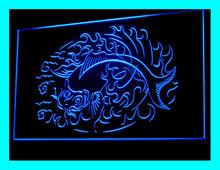 100067B Tattoo Poker Stapling Modern Lucky Unicorn Pirates Kiss LED Light Sign