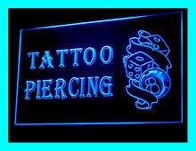 100069B Tattoo Stapling Koi Fish Tiger Tools Death Tribal LED Light Moon Sign