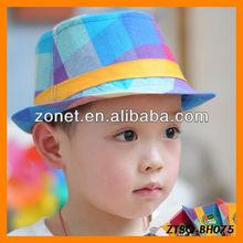 Colorful Jazz Colorful Squares Children Hat Wholesale
