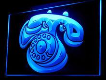 120061B Telephone Communication Conversation Microphone Office LED Light Sign