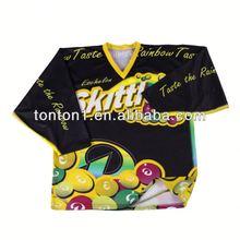 promotion sportswear print custom sublimated ice hockey top supplier