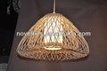 de bambú palo lámpara de araña