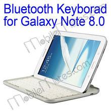 Good Quality Aluminium Alloy + PC Wireless Bluetooth Keyboard for Samsung Galaxy Tab Note 8.0 N5110 N5100