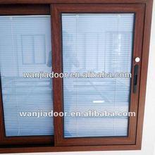 window blind/aluminum sliding window