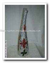 Ceramic Vases With Beaded Work