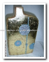 Ceramic Vases With Foiling & Beaded Work