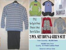 2 Pcs Set Boys And Girls Suit