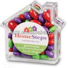 House shape acrylic sweet candy storge box desk