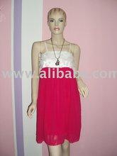 Pink white Lacy Fashion Evening Dress