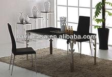 billige moderne 2013 glas esstisch und stühle