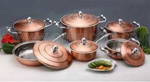 12pcs copper cookware set luxury cookware set