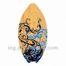 wood skimboard wood painting on deck