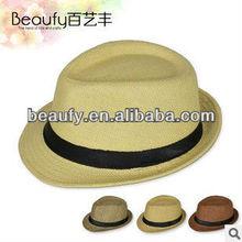hot-sale british style jazz male summer day fedora beach hats