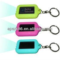 solar key ring with led ,mini led solar keyring,key promotional