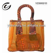 Dot Pattern Fashion Tote Women Clear PVC Handbag