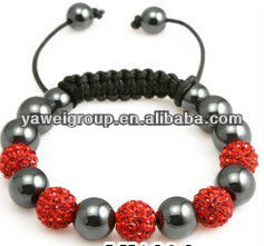 Disco ball shamballa bracelets alloy and shamballa handmade jewelry bracelet adjustable size ivory shamballa bracelet