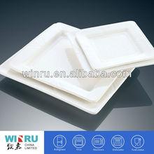 Decorative white square wholesale dinner plates