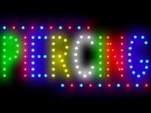 3Q0202 Piercing Death Beautiful Tumble Crazy Artistic Pirates Stapling LED Sign