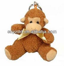 plush monkey keychain/mini plush monkey