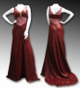 Brilliant Sexy Beauty! Beaded Red Dress 147r