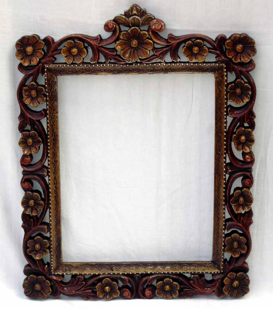 Madera tallada marco de fotos marco