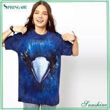 Fashionable Bluebird Crew Neck 3D T Shirt