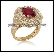 Unique 925 Sterling Silver Jewelry,Fashion Ruby Milgrain Ring