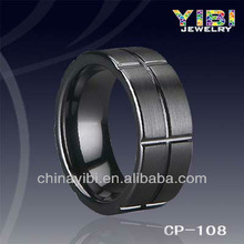 Fashion Black Ceramic Rings Shine Ceram Band Mens Jewel 8mm width Gifts Cool