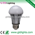 2013 hot sale bulb 6000k 460lm a19 e27 6w led bulb warm white
