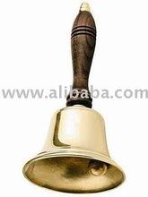Brass school hand bell, metal hand bell, Indian hand bell, brass school bell, hand made brass hand bell