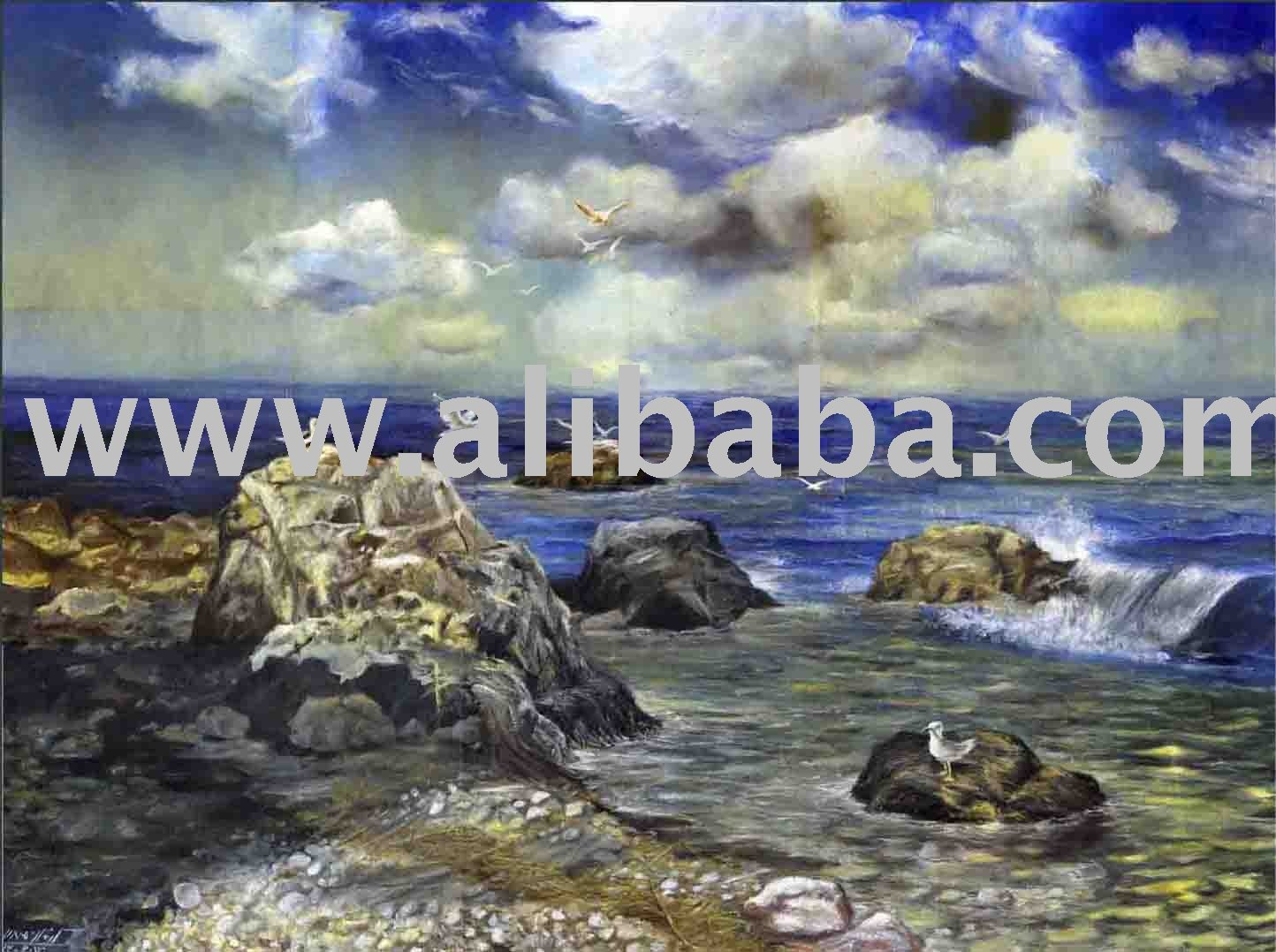 """the Sea"" Oil Painting"