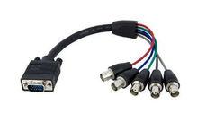 1 feet Coax HD15 VGA to 5 BNC RGBHV Monitor Cable - M/F