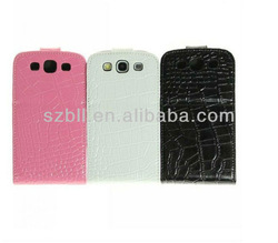 Flip leather mobile phone case for samsung 9300 galaxy s3