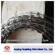 razor wire installation