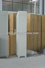 China 2 tier grey girl metal wardrobe with legs