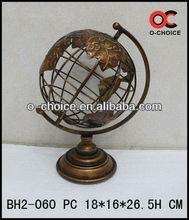 MA-060 Wholesale Indian Metal Globe Desktop Wall Art