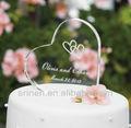 forma do coração moldura de acrílico para bolo de casamento top
