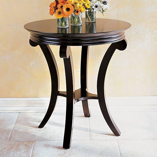 Mesa redonda de madera mesas de caf identificaci n del - Mesas de madera redondas ...