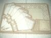 Raffia with cutwork design placemats