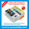 printer refill ink cartridges for Canon PG550/CLI551 Pixma IP7250 /MG5450 /MX725/MX925 MG6350 with resettable chip