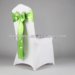 """Professional wedding factory- Wholesale 6.5""""108"""" Sage Green Satin Chair Sash For Wedding And Banquet"""