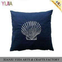 Ocean Series Blue Shell Decorative Pillow Wholesale