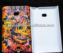 Mobile phone case skin cover for LG E400 L3 skull cover